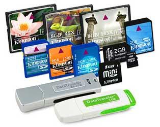 يطاقات الذاكرة Flash Memory Cards