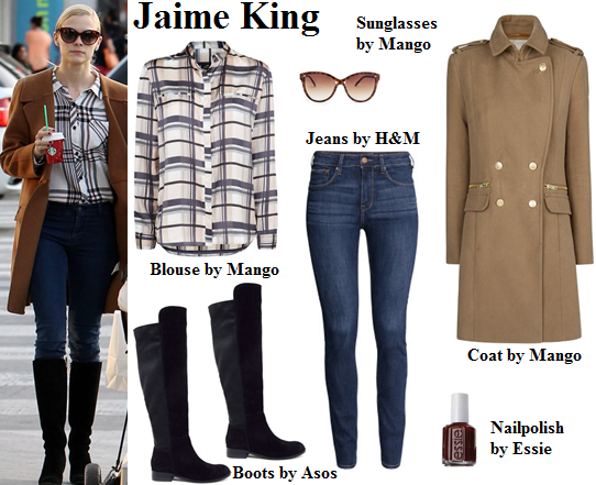 jaime king, coat, style, fashion