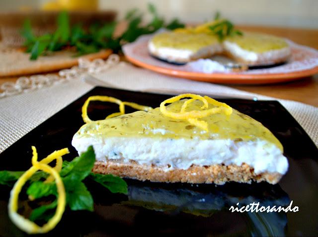 Cheesecake limone e menta ricetta dolce