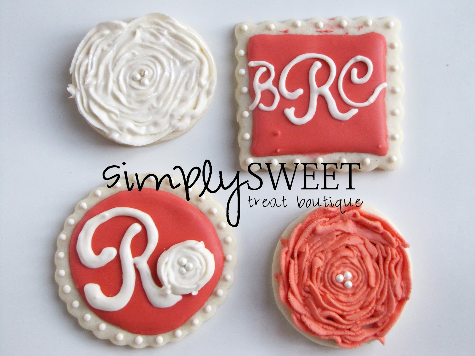 SimplySweet Treat Boutique: Wedding Monogram Cookies