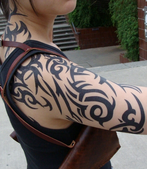 Tribal Shoulder Tattoos - 05