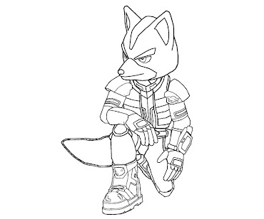 #20 Fox McCloud Coloring Page