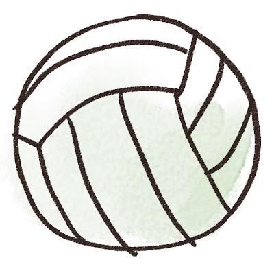 バレーボールのイラスト(スポーツ器具)