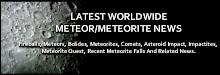 Meteor/Meteorite News