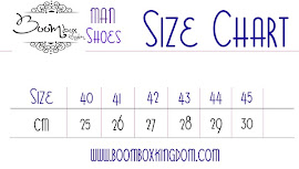Size Chart Shoe Man
