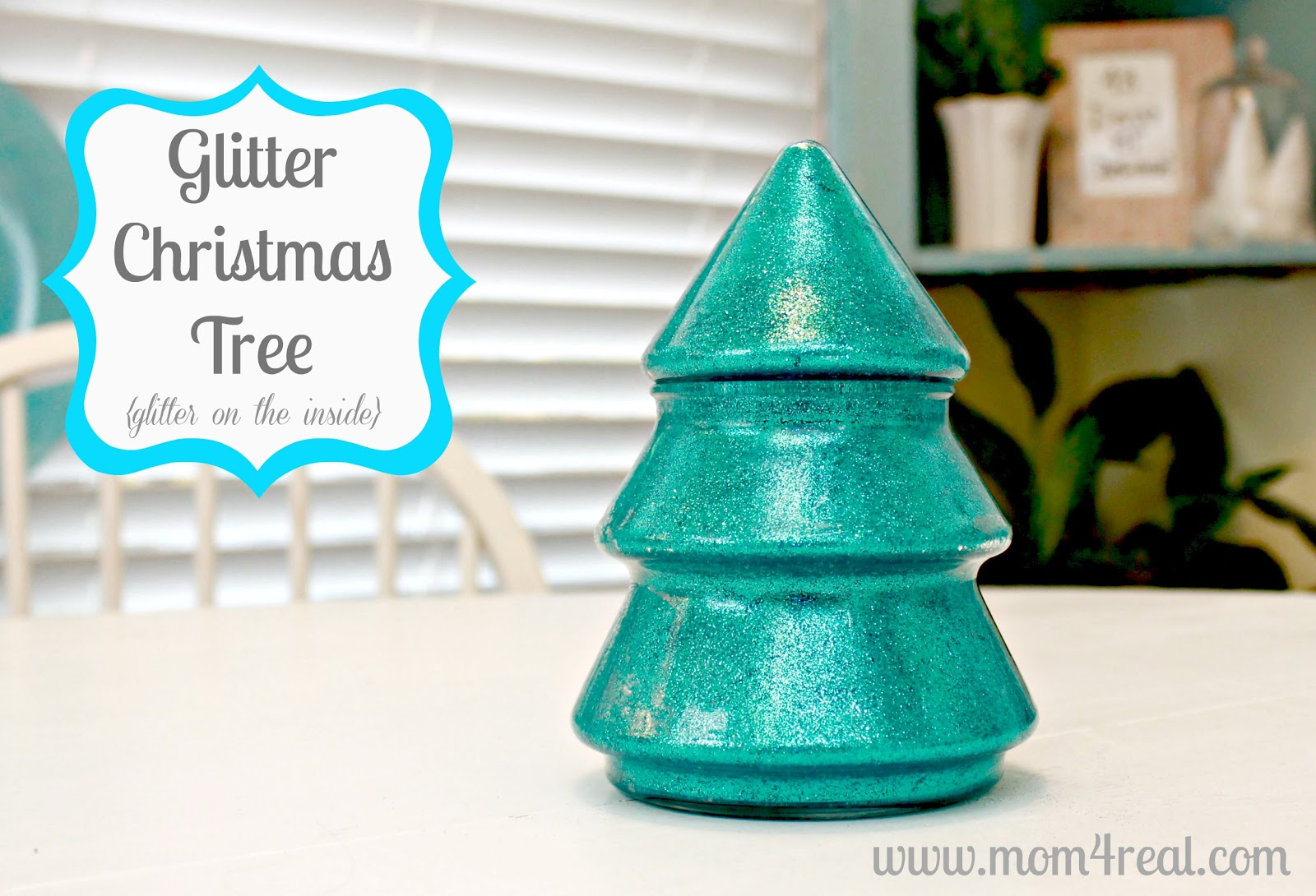 Glitter in glass christmas tree tutorial mom real