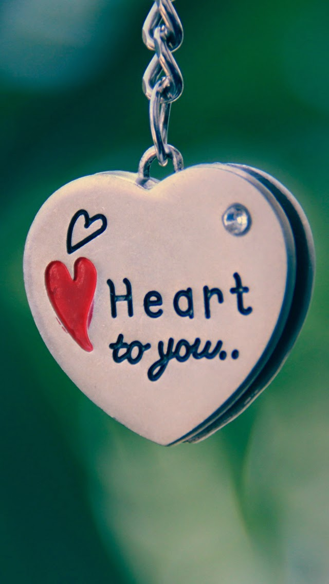 Heart to you Love bokeh iphone 6 wallpaper