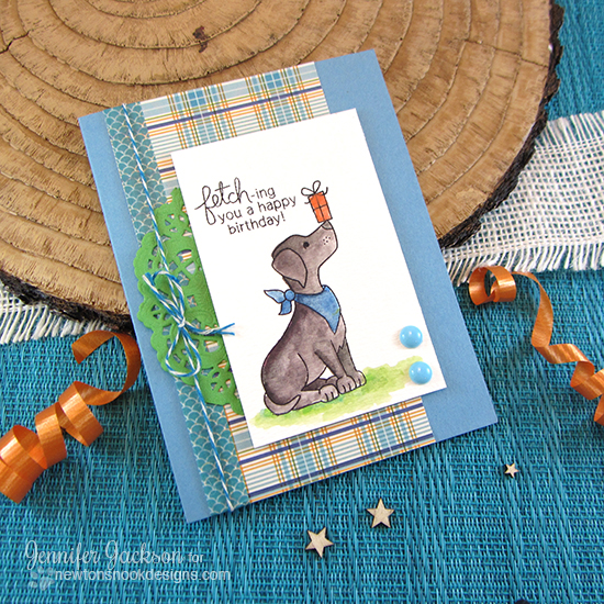 Birthday Labrador dog card by Jennifer Jackson | Fetching Friendship stamp set by Newton's Nook Designs