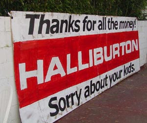 halliburton profit from war