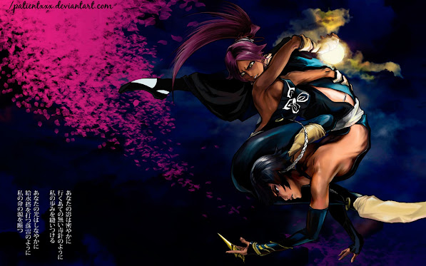 soifon and yoruichi bleach anime