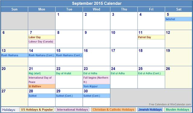 latest   september 2015 calendar printable