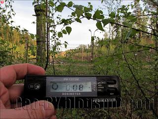Измерение радиации около бывшего 25 арсенала