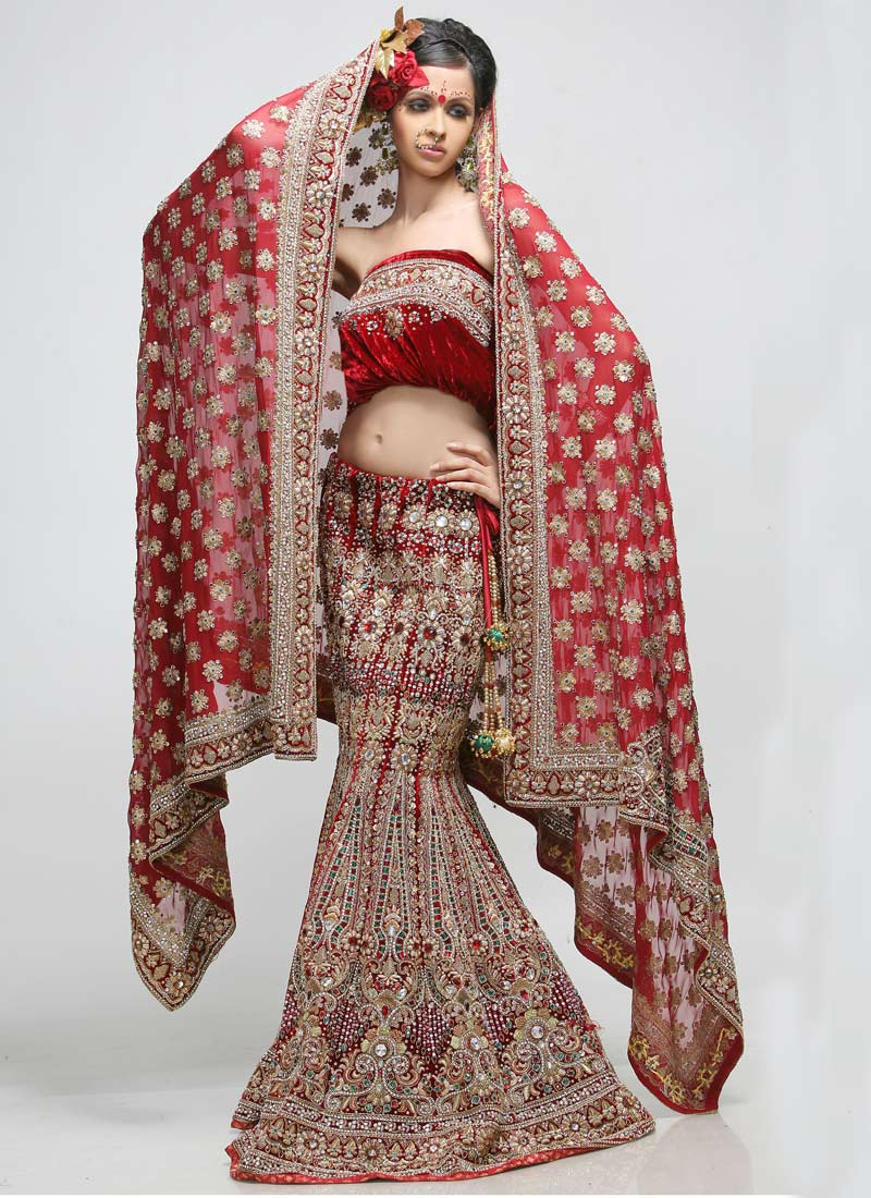 Bridel fashion trend and girls fashion uk banarsi wear for Indian wedding dresses uk