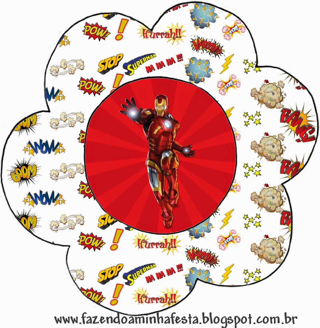 Invitación en forma de Flor de Iron Man.