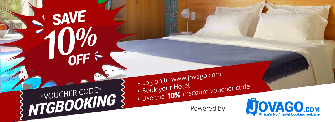 10% Discount on thousands of Hotels in Nigeria and Africa