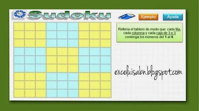 Sudoku en Excel avanzado