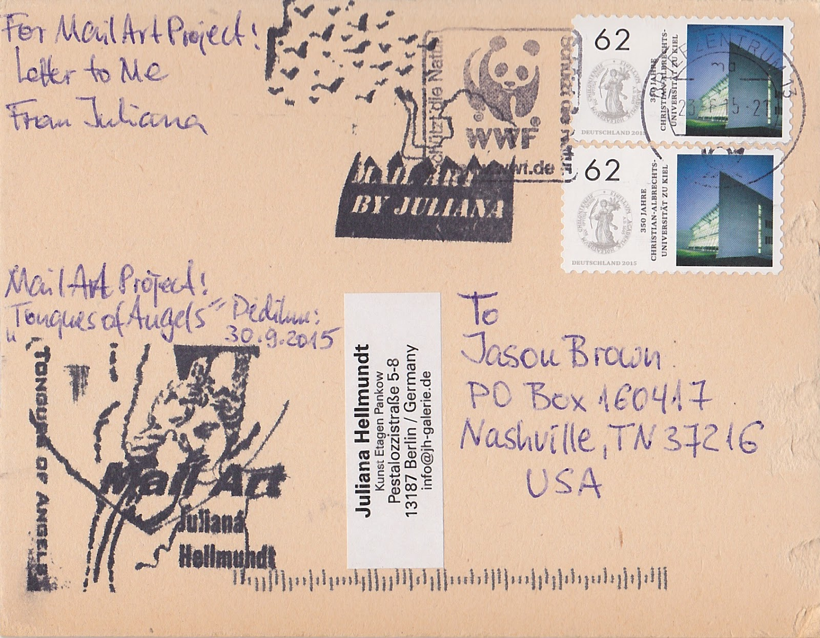 Letter To Me : A Mail Art Project: Page 19 : Juliana Hellmundt