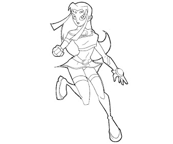 #17 Starfire Coloring Page