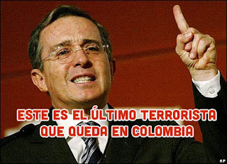 Alvaro Uribe Velez terrorismo