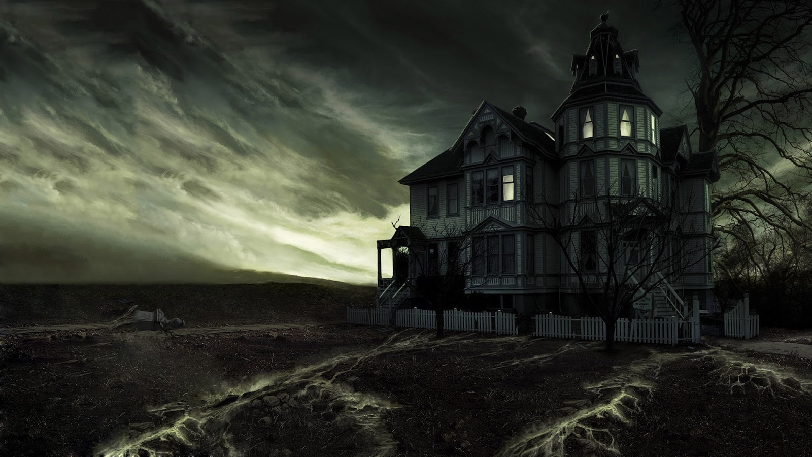 ghost house halloween scary pumpkin halloween scary red house ...
