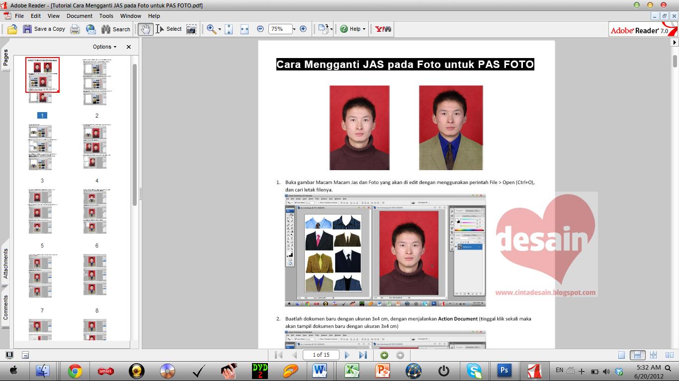 Cara Mengganti JAS pada Foto untuk PAS FOTO - Album Kolase