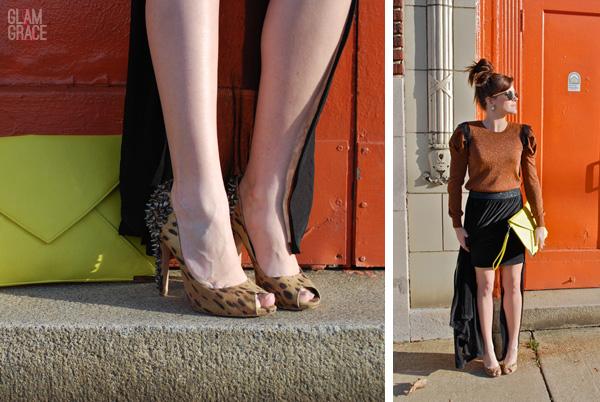 Akron Fashion - Downtown photoshoot - Sam Edelman leopard spikes