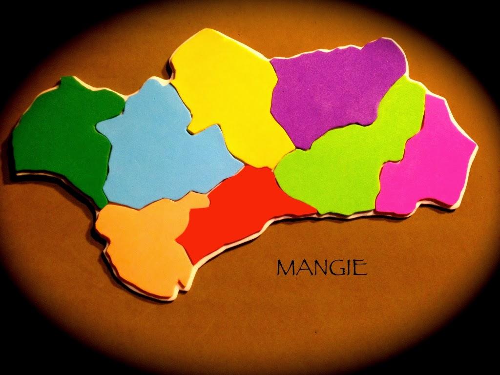 Mapa provincias Andalucía