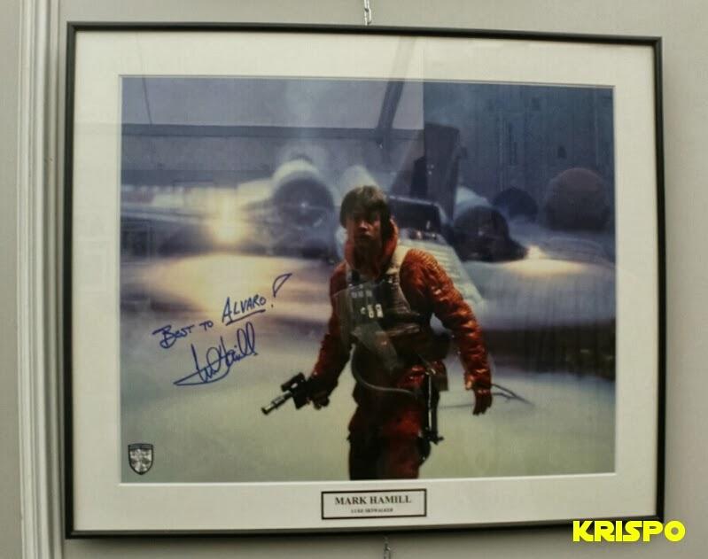 autografo en foto de mark hamill star wars