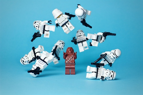 LEGO Chewbacca vs Stormtroopers