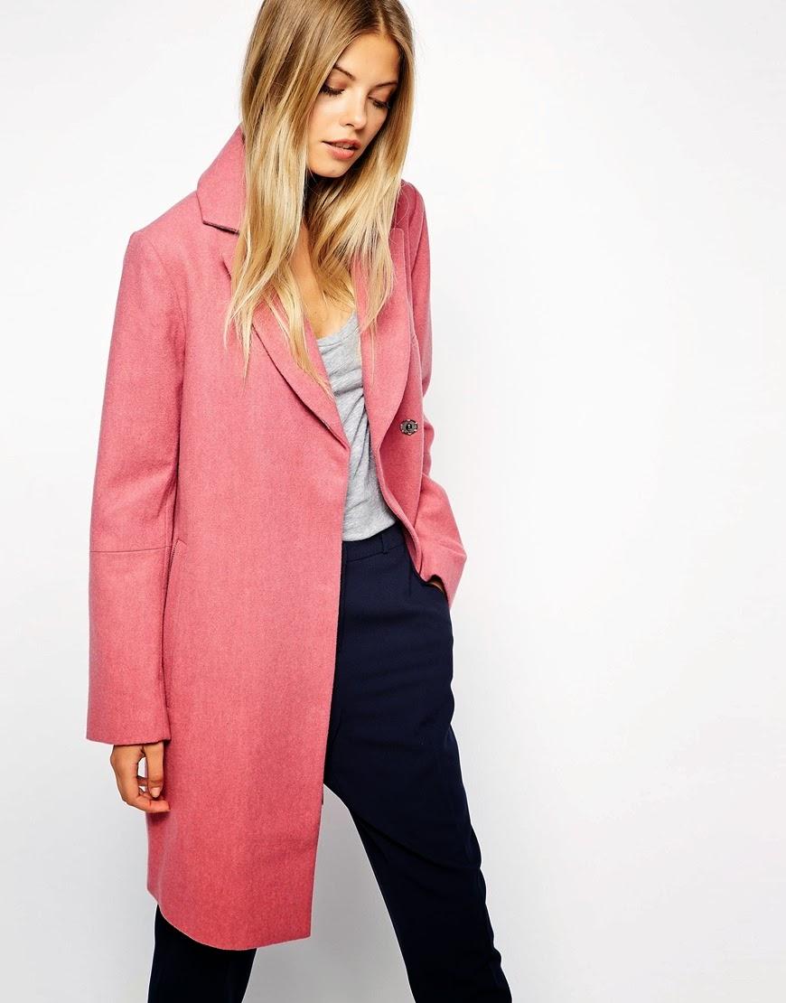 pink asos coat