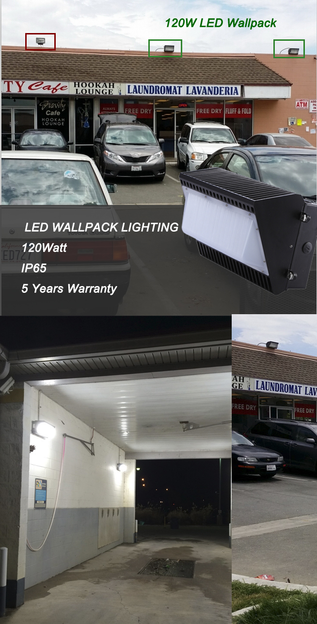 TEK 120W LED wallpack lighting is an ideal choice for retrofit