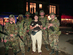 Nancy with a few of the young soldiers serving in Kosovo