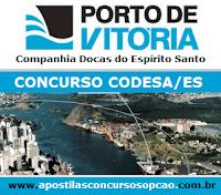 Apostila Concurso Codesa-ES 2015, Guarda Portuário do Porto de Vitória/ES.