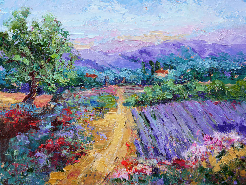 Summer Magic Lavender Fields Provence Palette Knife