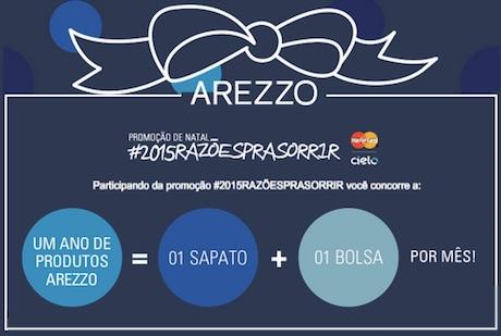 Participar promoção Arezzo natal 2014