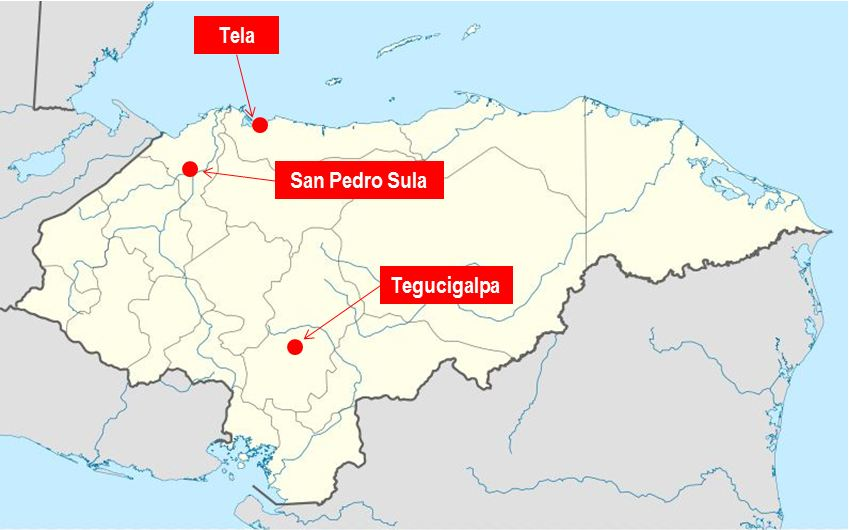 Where Is Honduras Tela In Honduras A Beautiful Beach To Visit - San pedro sula map