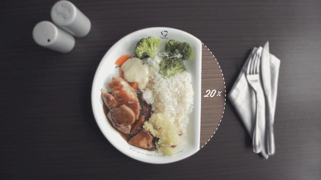 Pratos menores evitam desperdício de comida