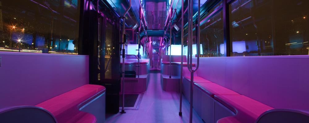 disco bus. Black Bedroom Furniture Sets. Home Design Ideas