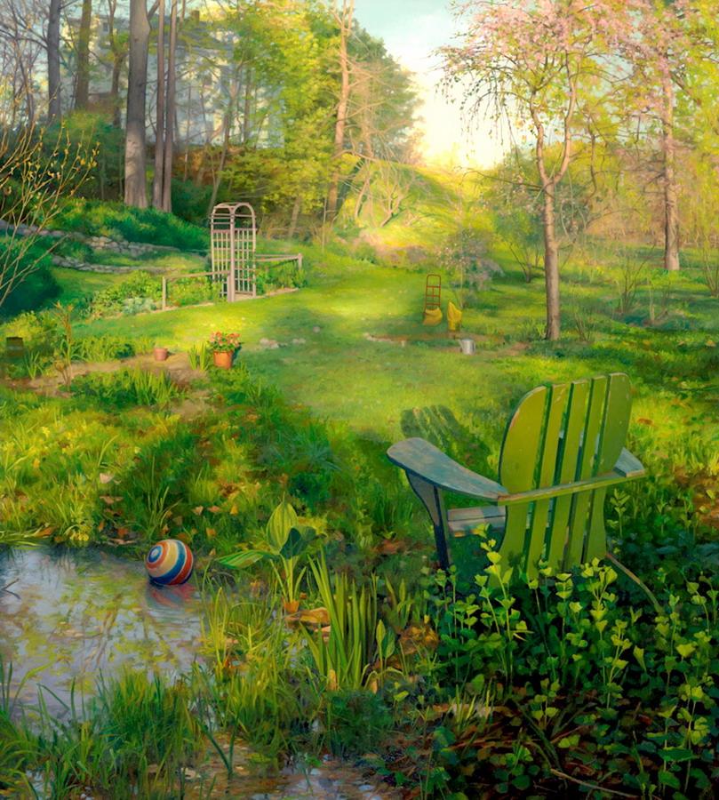 Pintura moderna y fotograf a art stica jardines y for Paisajes de jardines