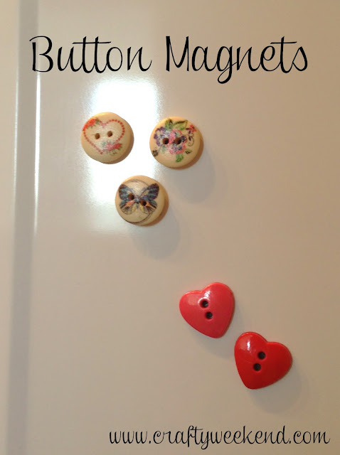 button magnet, homemade fridge magnet