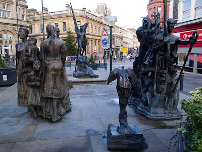 Escultura de los Chartistas de Newport