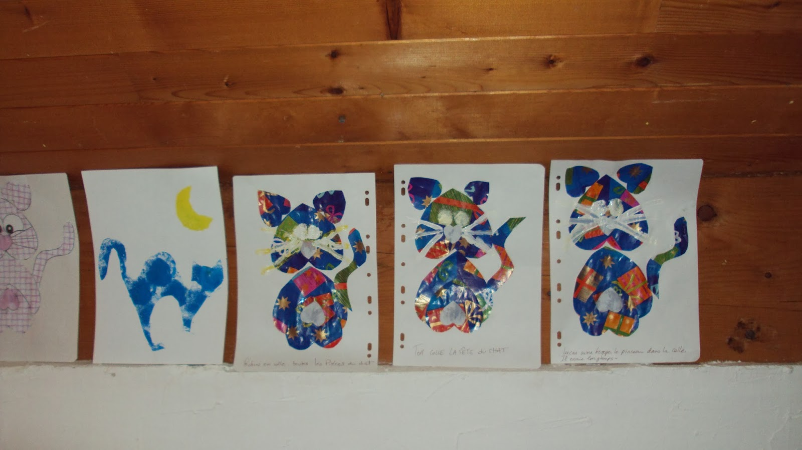 nounou pascale  collage chats coeurs