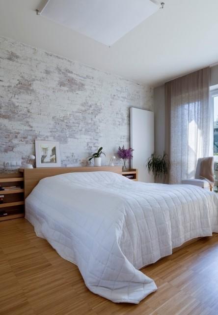 Dormitorios con paredes de piedra dormitorios con estilo - Paredes para dormitorios ...