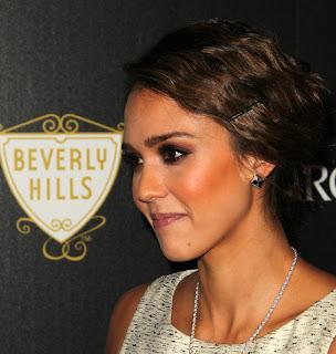 Jessica Alba bobby pinned romantic Updo Hairstyle