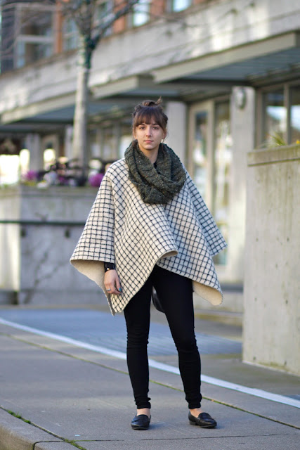 Suria Markus Fremont poncho seattle street style fashion it's my darlin'