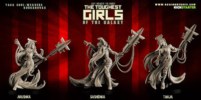 nuevas esculturas de miniaturas de The Toughest Girls of the Galaxy [Raging Heroes].