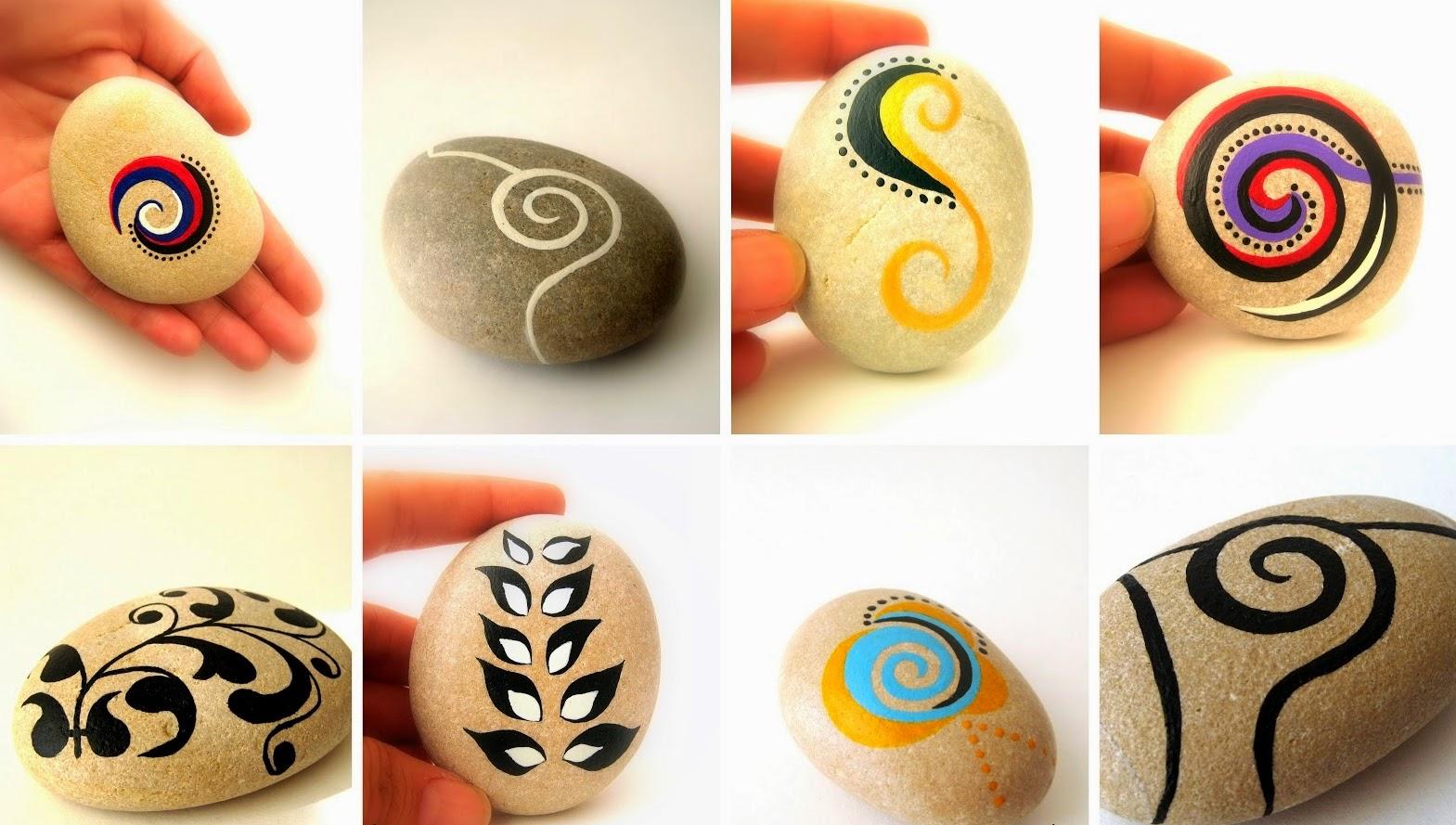C mo hacer piedras decoradas muy f cil de hacer for Piedras pintadas a mano paso a paso