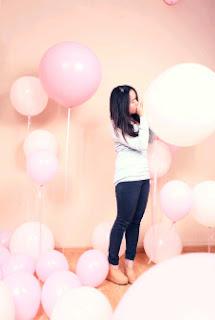 balon gas untuk model iklan