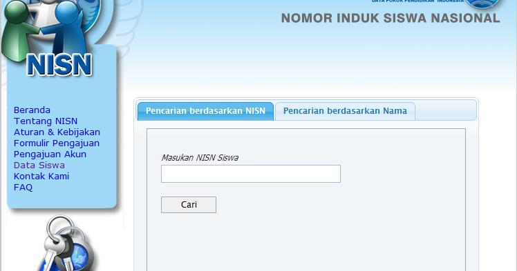 nurhamim's blog: Cara mengetahui dan mencari data NISN ...