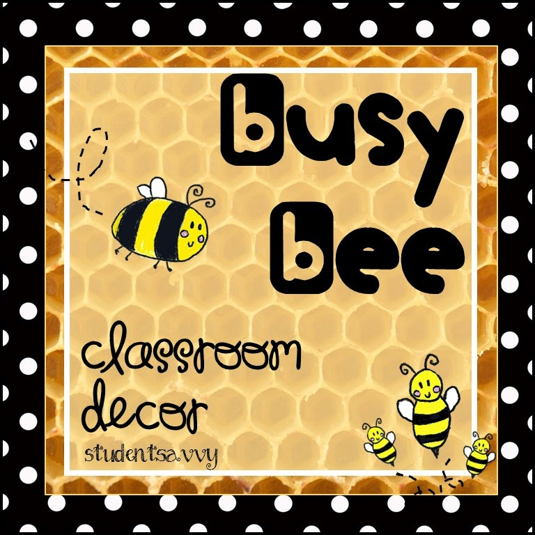 http://www.teacherspayteachers.com/Product/Classroom-Decor-Bee-Theme-1383823